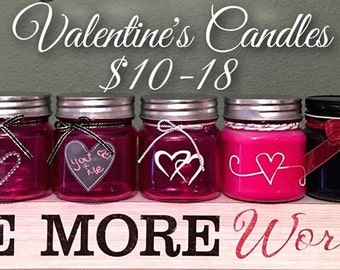 Valentine's Day Soy Candles