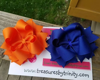 Solid Bow, Stacked Boutique Hair Bow, Solid Hairbow, Basic Bow, Stacked Bow, Pinwheel Bow, Pinwheel Hair Bow, Boutique Bow, Solid Color Bow