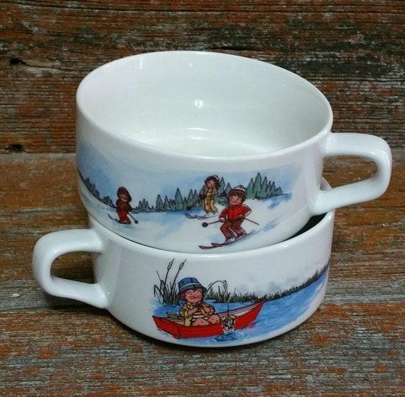 Vintage Campbells Soup Kids Bowls Ceramic Soup Bowls Soup