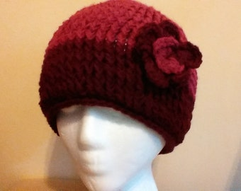 Lady's two tone crochet hat