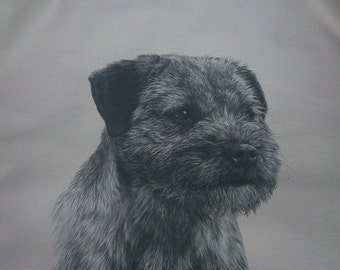 Border terrier cushion cover