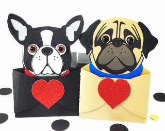Dog Gift Card/Dog Party Invitation/Puppy Party/Pug Party/Pug Invitations/Boston Terrier Party/Boston Terrier Invitations/Dog Birthday