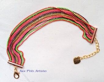 Multirang strap, micro-bead chain diamond 1