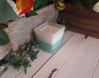 Coconut Lime Soy Candle in Frosted Square Jar