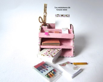 Stationery furniture-scale 1:12- Dollhouse miniatures