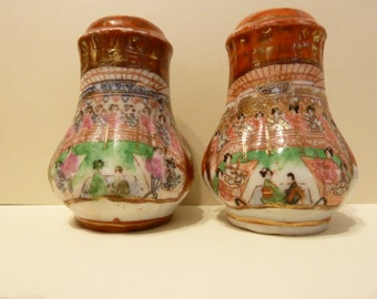 Salt & Pepper Shakers, Ceremonial, Asian Design