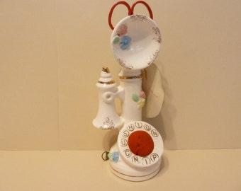 Candlestick Phone Sewing Kit, 50s era,