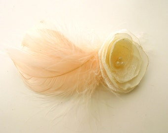 12 pcs Peach Feathers - Salmon colour feathers - Pastel orange feathers - Natural feathers - Craft feathers - Goose feathers. UK Sellet
