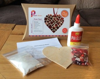 Heart Mosaic Craft Kit for Adults & Children