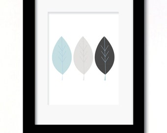A4 leaf print available in 2 colour options
