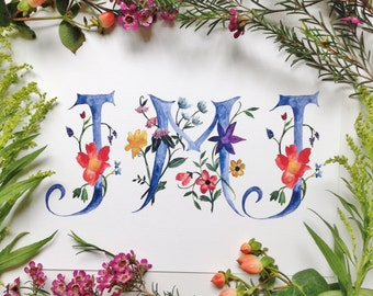 JMJ Jesus Mary Joseph 8x10 floral print