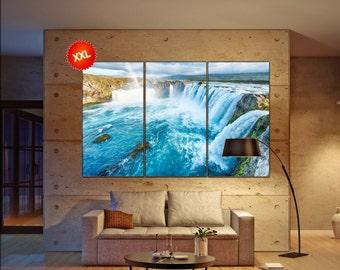 waterfall  canvas wall art waterfall wall decoration waterfall canvas wall art art waterfall large canvas wall art  wall decor