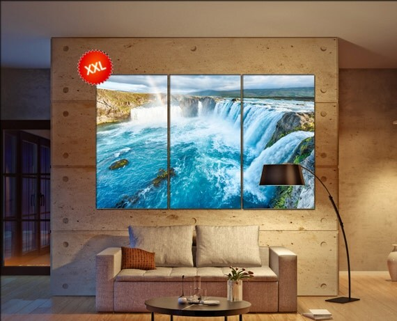 waterfall  canvas wall art waterfall wall decoration waterfall canvas wall art art waterfall large canvas wall art  wall decor