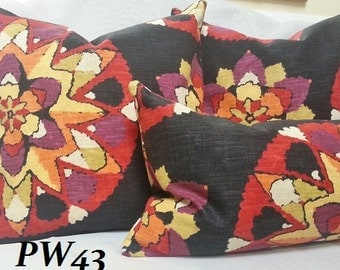 Decorative Suzani Pillow Cover, Lumbar Pillow Cover with Richloom Designer Fabric / Both Sided / All Size Available