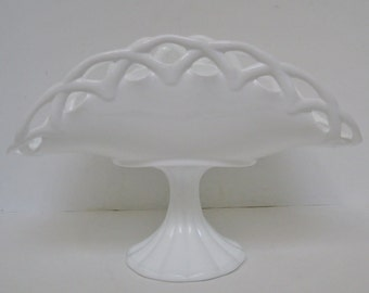 Milk Glass Centerpiece