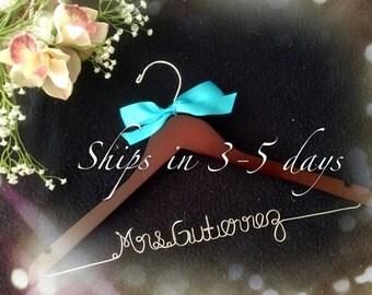 Grand Opening !!l-Personalized Bridal Hanger,Customized Hanger, Wedding Gift, Wedding Hanger, Bridal shower Gift, Bridemaids hanger