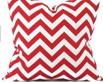 red and white chevron  envelope pillow cover throw pillow