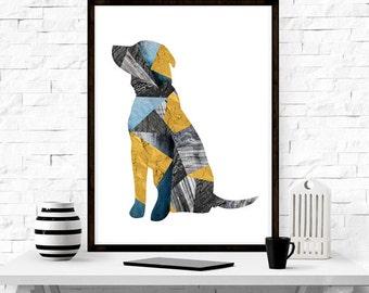 Labrador, Dog Print,  Wall Art, Animal Art, Modern Design, Nordic Design, Kids Room Decor, Nursery Decor,