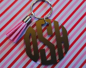 Monogrammed Tassel Keychain!!