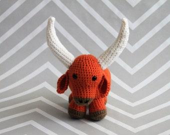 Made-to-Order Crochet Longhorn Steer Stuffed Animal
