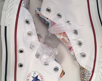 SOLD-Size 12 Custom Character Converse
