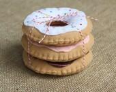 Set of 3 Felt Donuts
