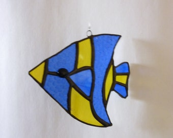 Stained glass fish suncatcher