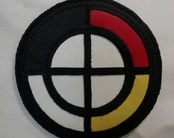 Medicine Wheel Leather Patch American Indian