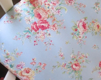Shabby chic, country blue fitted crib sheet