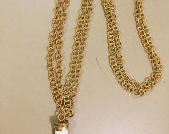 Gold Chain & Horn