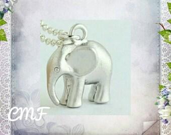 Elephant Necklace 925 Sterling Silver Necklace Elephant Pendant