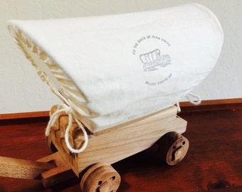Western Covered Wagon, Cowboy Toy Wooden Wagon, Stagecoach, Wild West Wagon