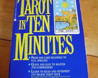 Vintage Tarot in Ten Minutes Book by R.T. Kaser 1992