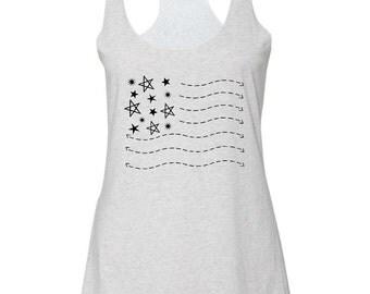 American Flag Women's Tank