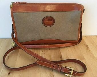 Dooney & Bourke Vintage Classic Leather Zip-Top Crossbody Purse