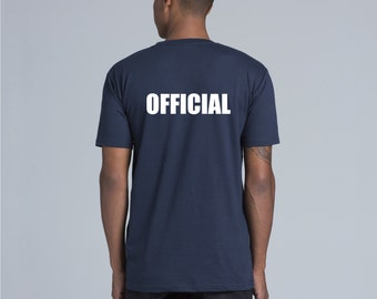 Roller Derby - Black OFFICIAL Tee with Custom Name