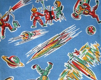 Fabulous vintage space age fabric