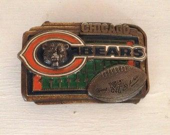 Mans Belt Buckle Chicago Bears