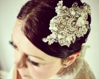 Vintage Inspired Hand Beaded Bridal Hair Comb