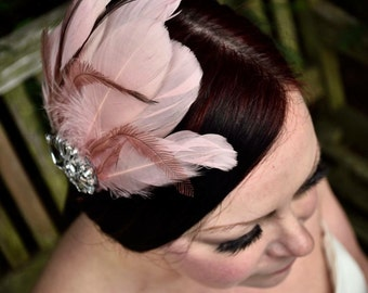Feather and Brooch Hair Comb / Fascinator