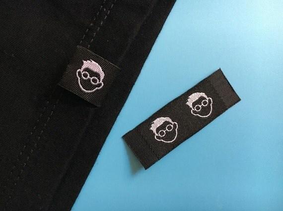 300 bottom hem tag hem label woven hem lable for tee for Custom t shirts with custom tags