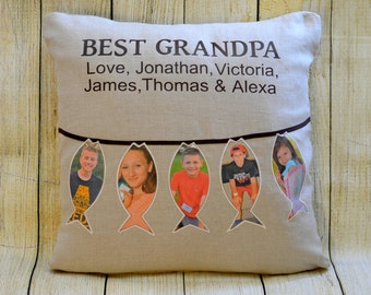 Grandpa Gift Pillow/Cushion Cover - Custom Personalized