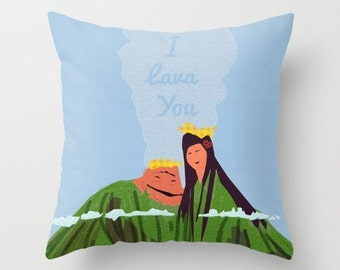 i lava you.. volcanos.. disney throw pillow with insert