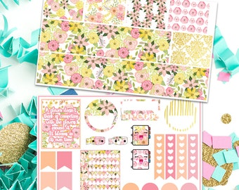Golden Summer planner sticker kit for erin condren
