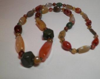 Polished Agate Stone Necklace