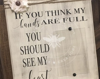 Mother's day picture holder wood sign