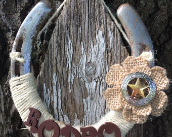 Rodeo Horseshoe-Cowgirl-Country Western-Equestrian-Horse decor-Gifts-Good luck