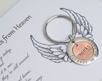 Pennies From Heaven, Memorial Gift, Angel Penny, Penny Keychain, Passing Gift, Remembrance Gift, Grieving Gift, Funeral Gift