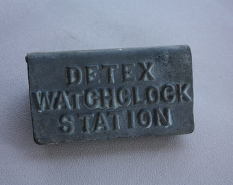 Vintage Detex Watchclock Station Box With Key