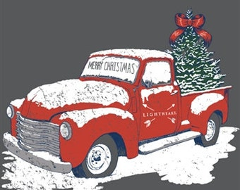 Southern Couture Merry Christmas Truck